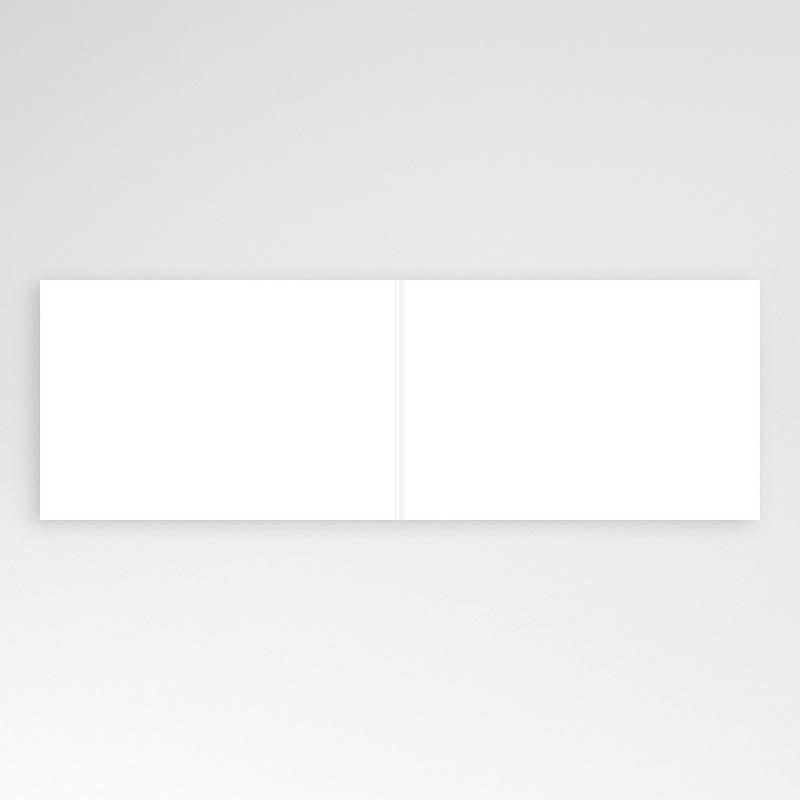 Faire-Part Naissance Vierge rectangle double horizontal 10 cm x 15 cm à personnaliser pas cher