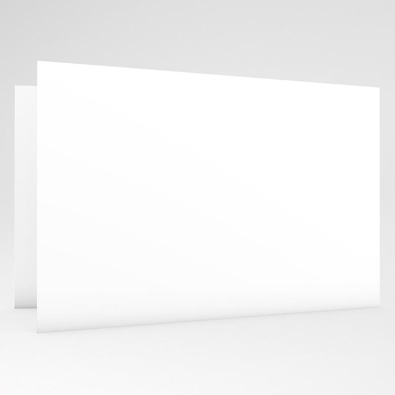 Faire-Part Naissance Vierge rectangle double horizontal 10 cm x 15 cm à personnaliser gratuit