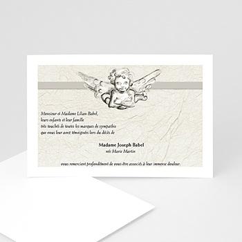 Cartes Remerciements Décès - Triste ange gardien - deces enfant - 3
