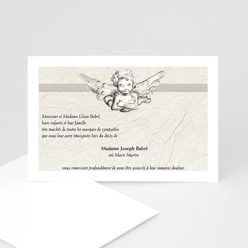 Cartes Remerciements Décès - Ange gardien  4750 thumb