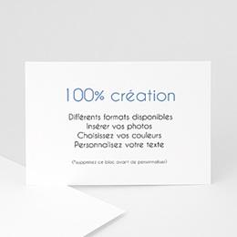 Carte remerciement naissance Vierge 100% Création