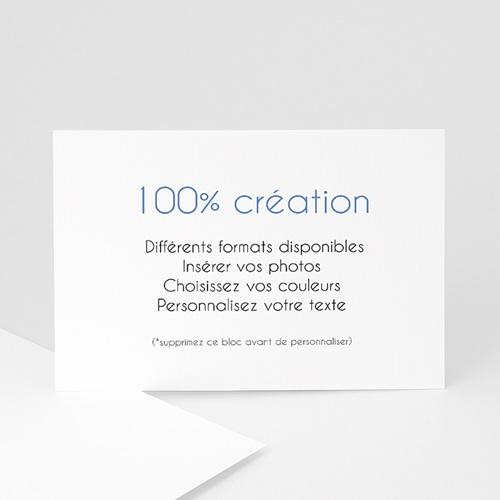 Carte remerciement naissance - Vierge 100% Création 47501