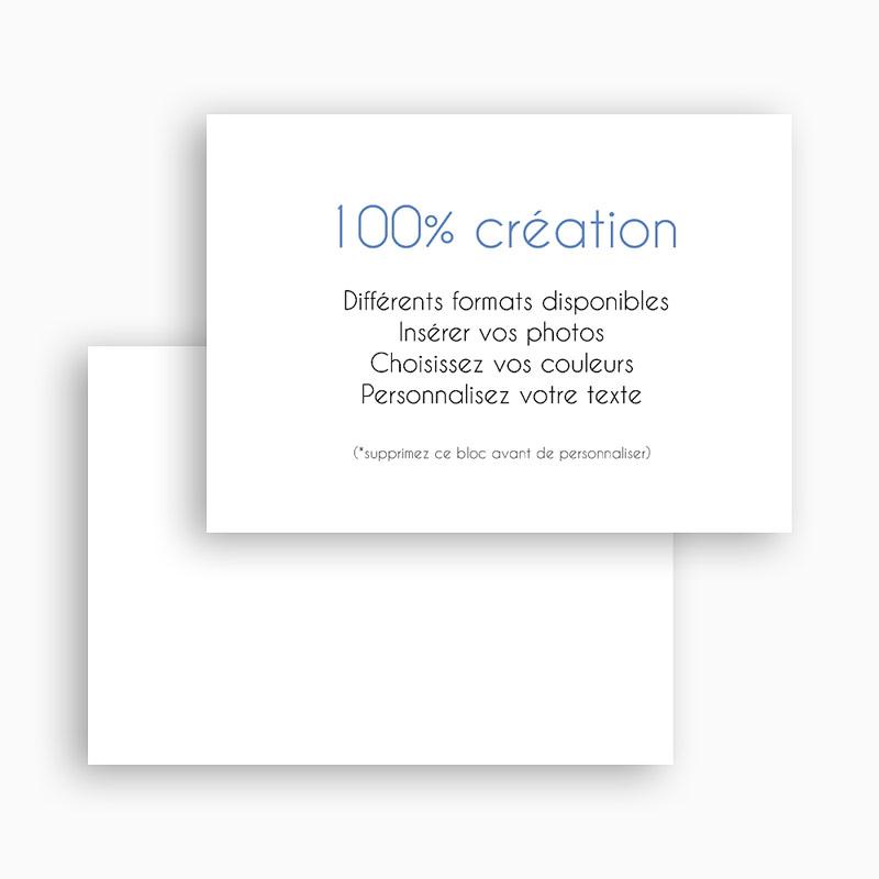 Carte Remerciement Naissance Vierge 100% Création gratuit