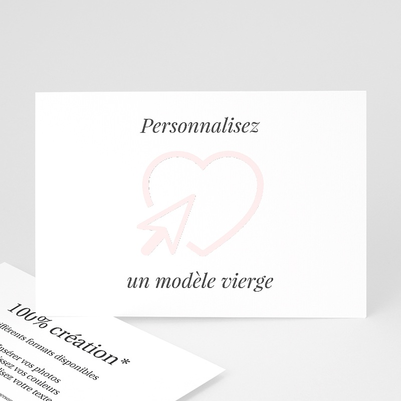 Faire Part Mariage Vierge Horizontal 16 7 Cm X 12 Cm A Personnaliser Echantillon Offert Carteland