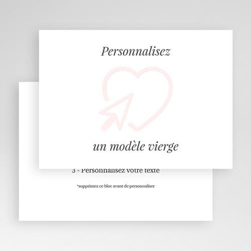 Faire-Part Mariage Vierge horizontal 16.7 cm x 12 cm à personnaliser gratuit