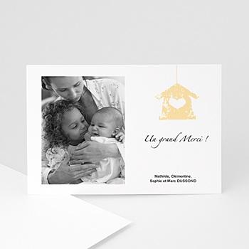 Création carte remerciement naissance fille coeur épris d'amour
