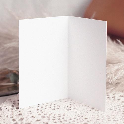 Faire-Part Mariage Vierge - rectangle double vertical 10.5 cm x 15 cm à personnaliser 47604 preview