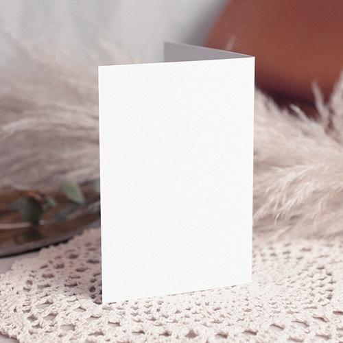 Faire-Part Mariage Vierge - rectangle double vertical 10.5 cm x 15 cm à personnaliser 47605 preview