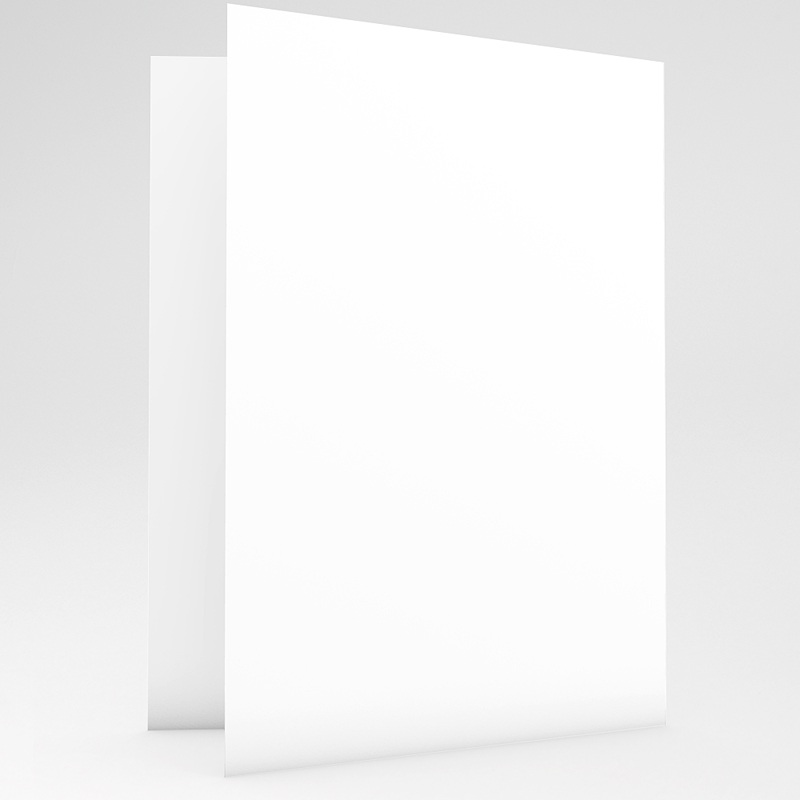 Faire-Part Mariage Vierge rectangle double vertical 10.5 cm x 15 cm à personnaliser gratuit