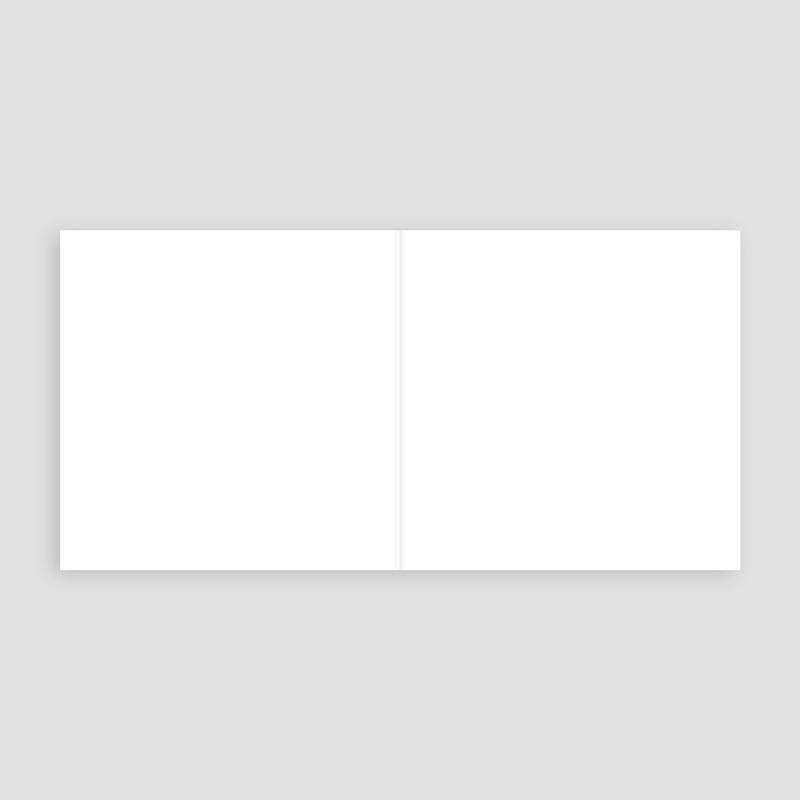 Faire-Part Mariage Vierge carré double 14 cm x 14 cm à personnaliser pas cher