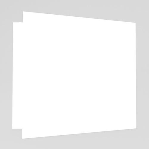 Faire-Part Mariage Vierge carré double 14 cm x 14 cm à personnaliser gratuit