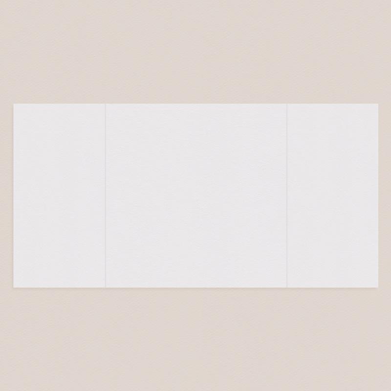 Faire-Part Mariage Vierge carré deux volets 15 cm x 14.5 cm à personnaliser pas cher