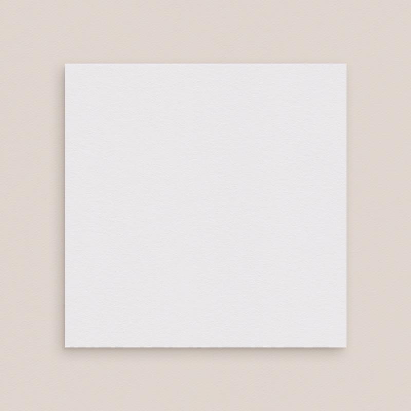 Faire-Part Mariage Vierge carré deux volets 15 cm x 14.5 cm à personnaliser gratuit