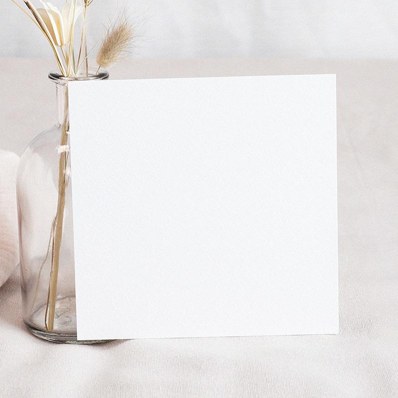 Faire-Part Mariage Vierge carré 14.5 cm x 15 cm à personnaliser pas cher