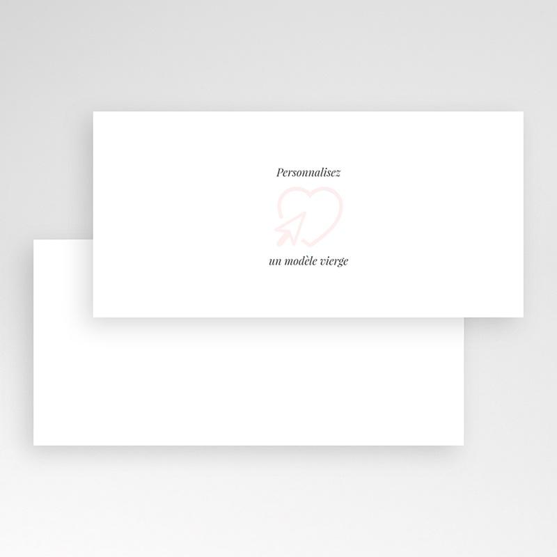 Faire-Part Mariage Vierge rectangle horizontal 21 cm x 10 cm à personnaliser pas cher