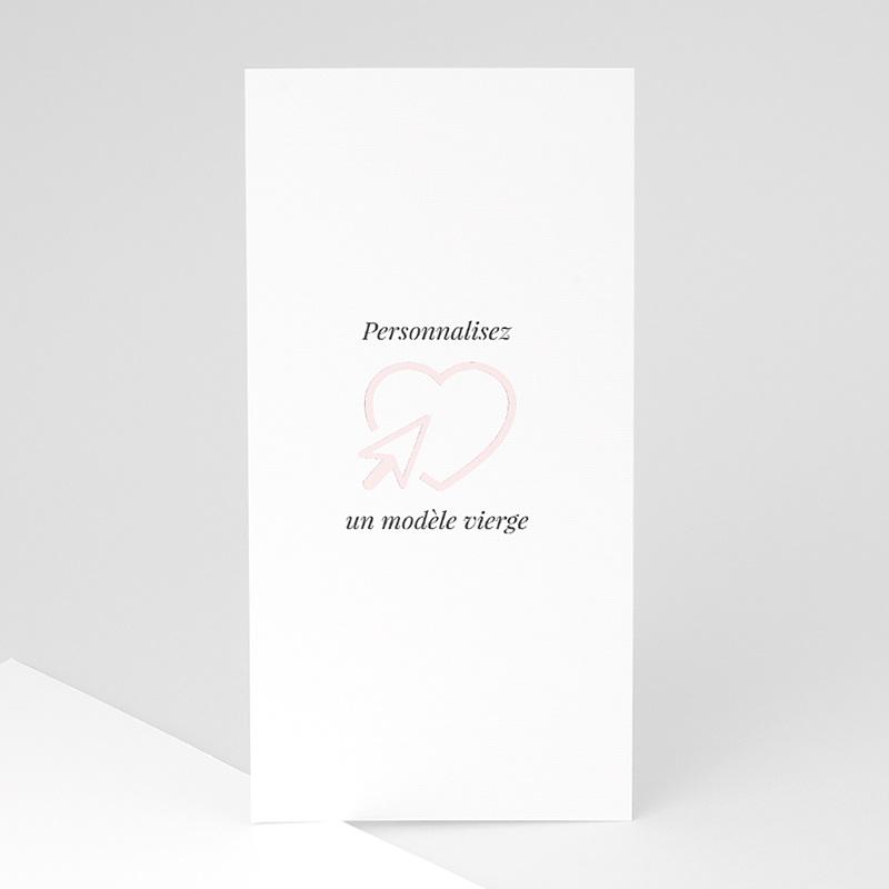 Faire-Part Mariage Vierge rectangle vertical 10 cm x 21 cm à personnaliser