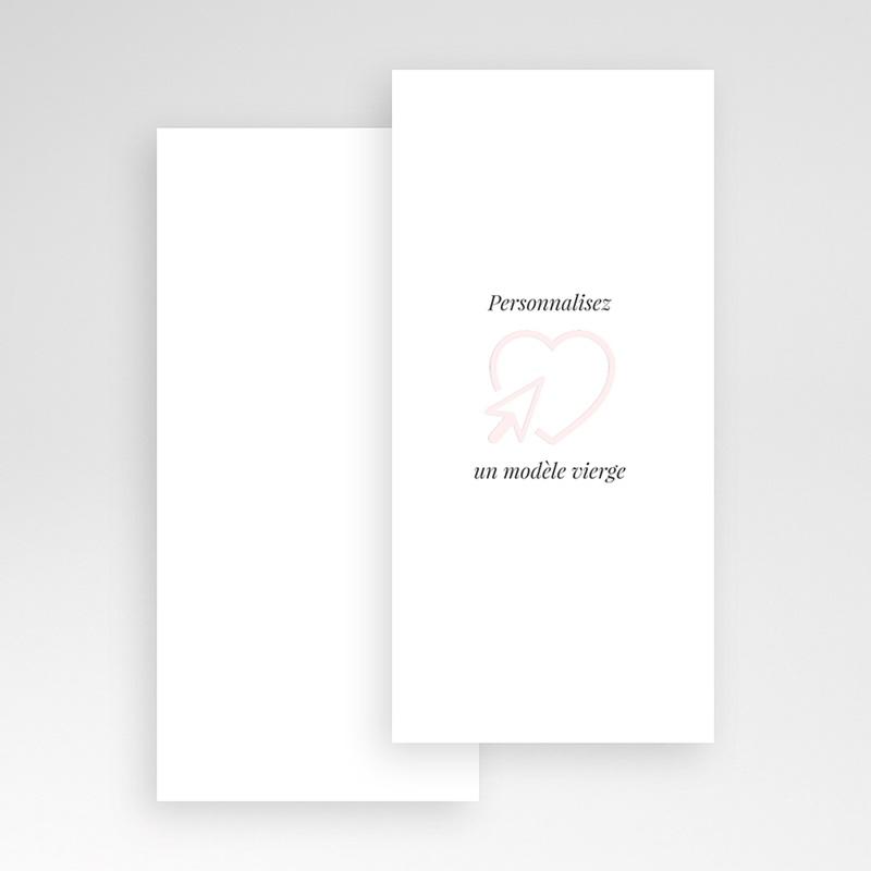 Faire-Part Mariage Vierge rectangle vertical 10 cm x 21 cm à personnaliser pas cher
