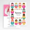 Faire-Part Naissance Fille UNICEF Jolies Poupées gratuit