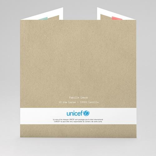 Faire-Part Naissance Jumeaux UNICEF - Twins & Kraft 47807 thumb