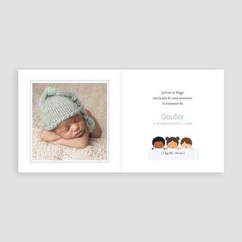 Faire-Part Naissance Garçon UNICEF - Farandole garçons 47817 thumb