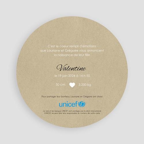 Faire-Part Naissance Fille UNICEF - La ronde des coeurs 47820 preview