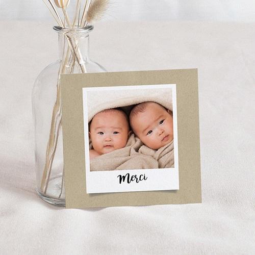 Carte Remerciement Naissance UNICEF Twins