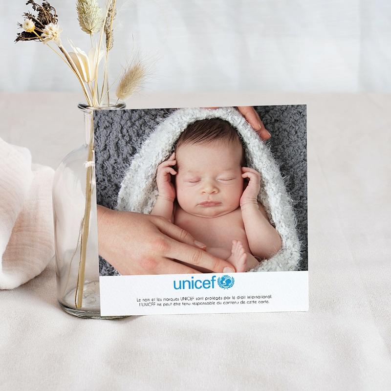 Carte Remerciement Naissance UNICEF Fillettes du monde pas cher