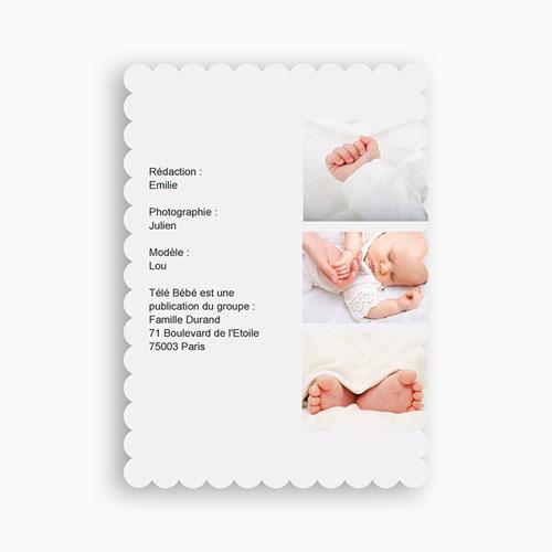 Faire-Part Naissance Fille - Télé bébé Dentelle 48007 thumb