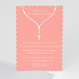 Faire-part communion fille - Prière - 0