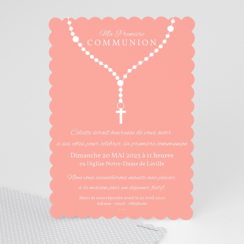 Faire part communion fille pri re originale - Idee cadeau bapteme fille originale ...
