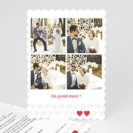 Carte Remerciements Mariage Mon coeur, mon Amour