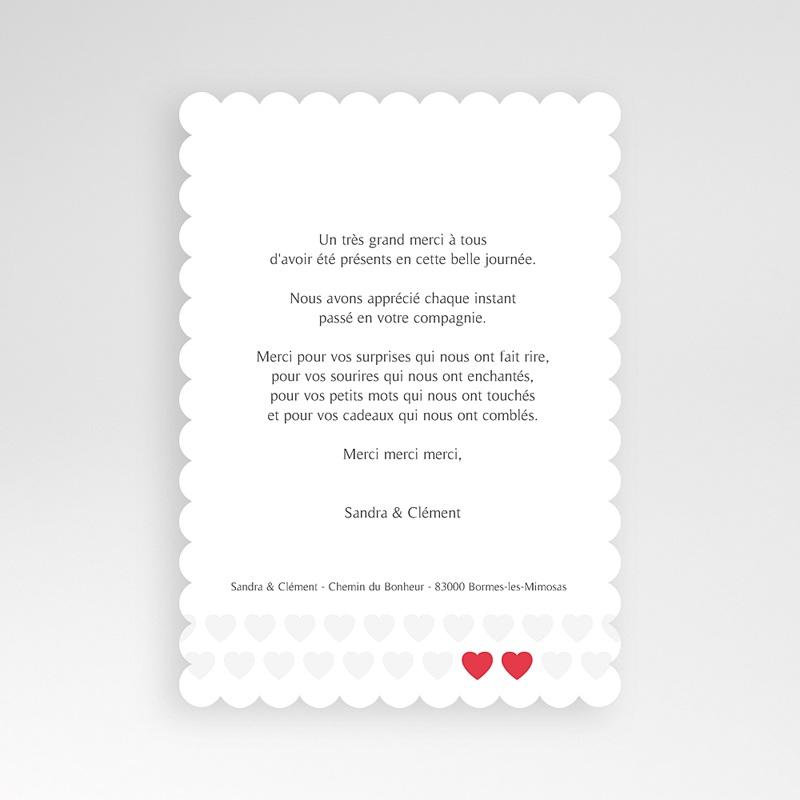 Carte Remerciements Mariage Mon coeur, mon Amour pas cher