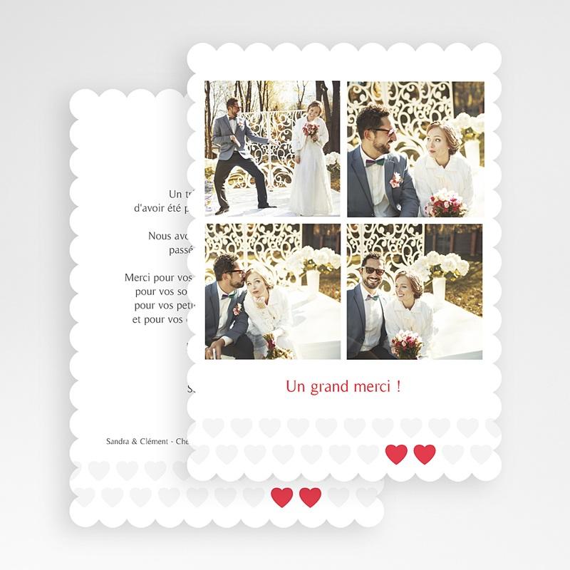 Carte Remerciements Mariage Mon coeur, mon Amour gratuit