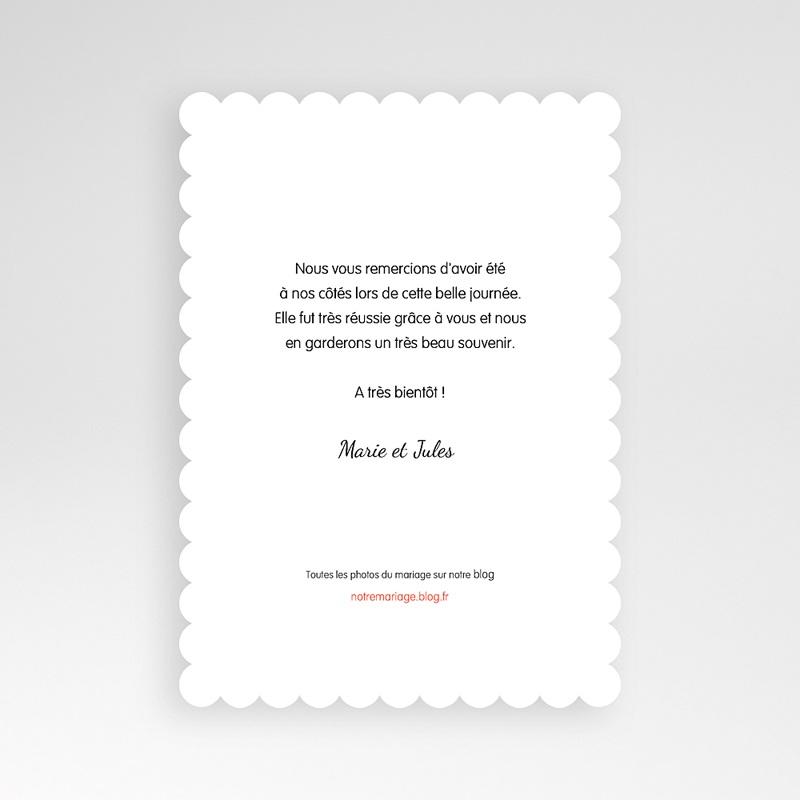 Carte Remerciements Mariage L'amour couronné pas cher