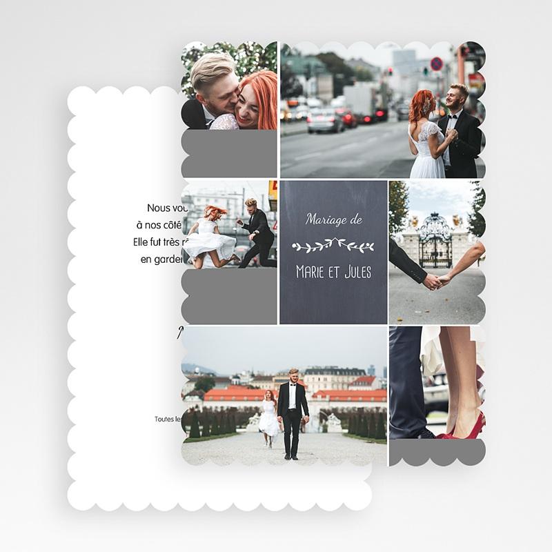 Carte Remerciements Mariage L'amour couronné gratuit