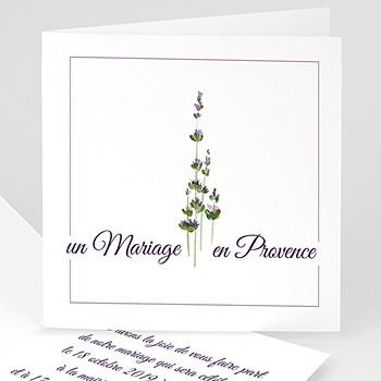 Faire part de mariage nature bouquet de lavande en provence