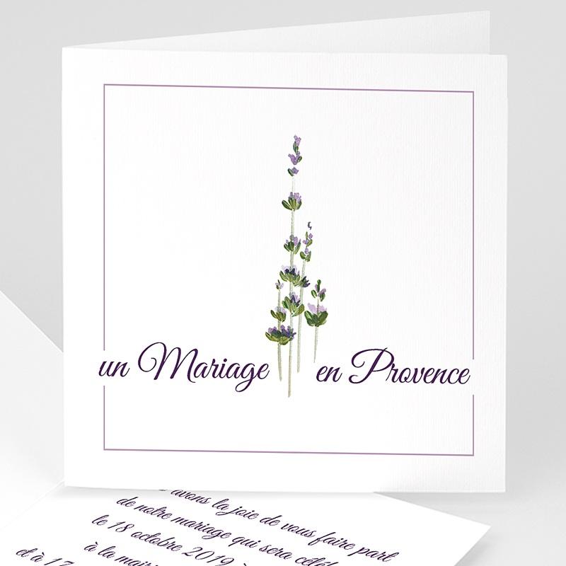 Faire-part mariage nature Bouquet de lavande en Provence