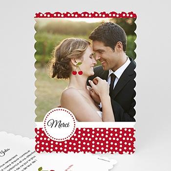 Acheter carte remerciements mariage le temps des cerises