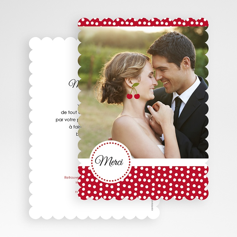 Carte Remerciements Mariage Le temps des Cerises gratuit