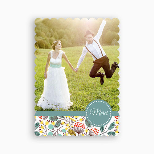 Tous les Remerciements Mariage - Fleurs des champs 48105