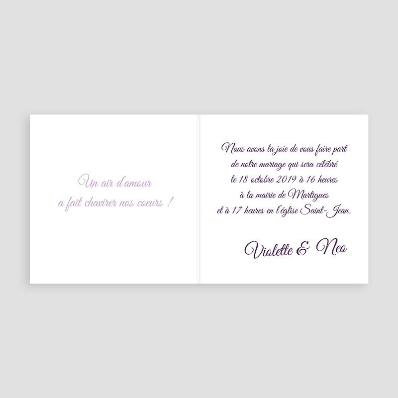Faire-part mariage nature Bouquet de lavande en Provence pas cher