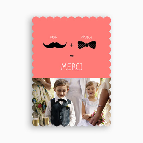 Tous les Remerciements Mariage - Oui familial 48111