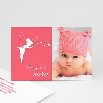 Remerciements Naissance Fille - Petite fée - 0