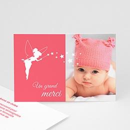 Carte remerciement naissance fille Petite fée