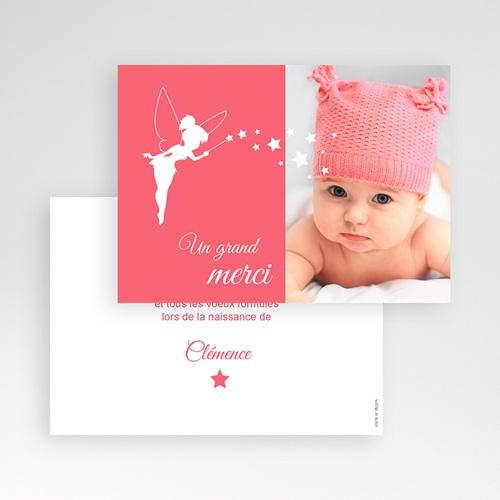 Carte Remerciement Naissance Fille Petite fée pas cher