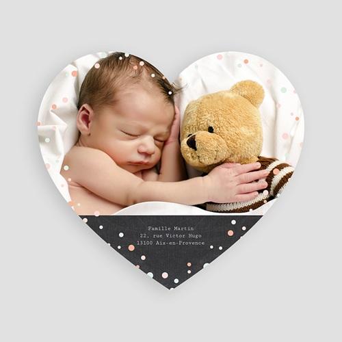 Faire part naissance gar on coeur d 39 amour carteland echantillon offert - Ceour d amour ...