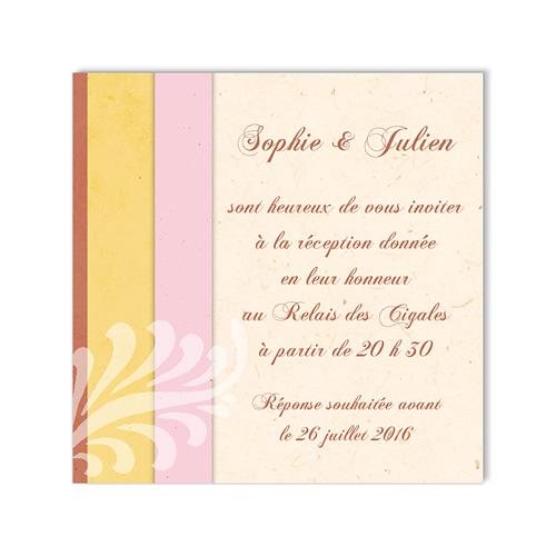 Carte Invitation Mariage - Une belle histoire d'amour 48615 preview