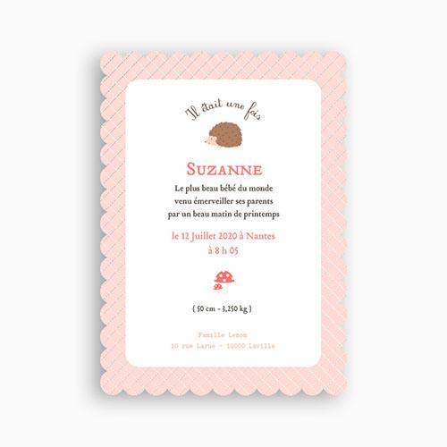 Faire-Part Naissance Fille - Hérissonne 48660 preview