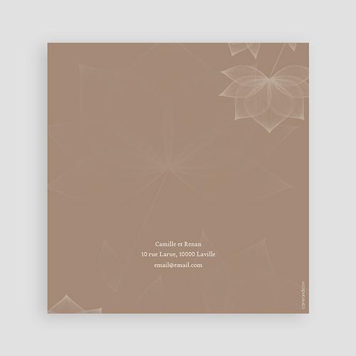 Faire-Part Mariage Personnalisés - Elégance chocolat 48666 preview