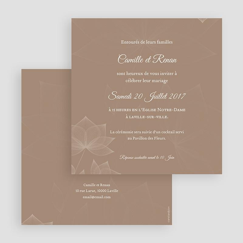 Faire-Part Mariage Elégance chocolat gratuit